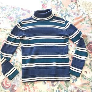 Vintage Relativity candy striped high neck sweater